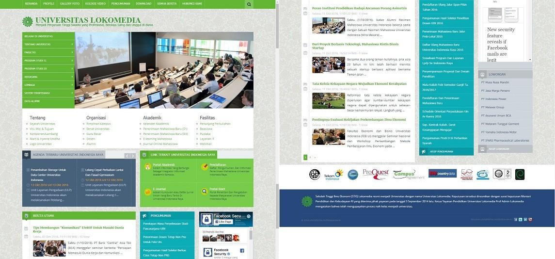 Website Portal Kampus dengan Framework CodeIgniter